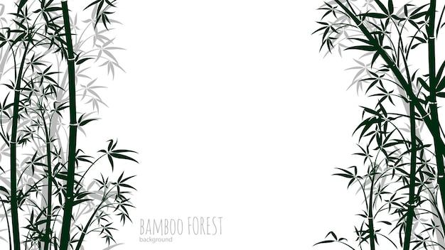 Hintergrund des bambuswaldes. chinesischer, japanischer tropischer regenwald