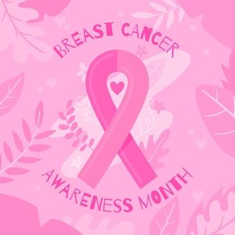 Hintergrund des bewusstseins für brustkrebs