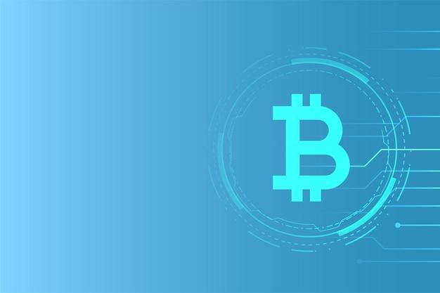 Hintergrund des bitcoin-technologiekonzepts für virtuelles geld