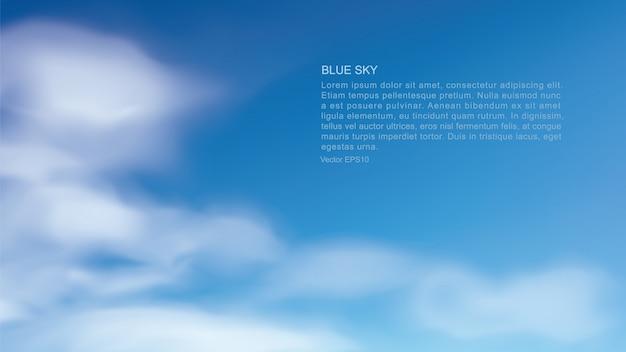 Hintergrund des blauen himmels mit weißen wolken.
