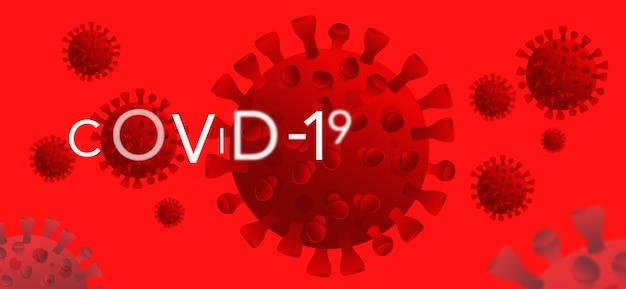 Hintergrund des corona-virus. virus hintergrund. perfekte vorlage für zielseiten, websites und vieles mehr