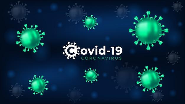 Hintergrund des coronavirus 2019-ncov-virus