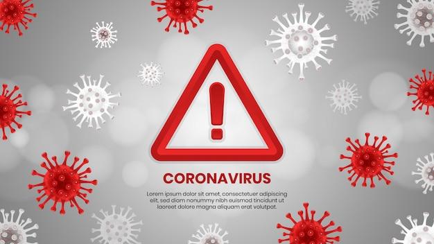 Hintergrund des coronavirus-alarms