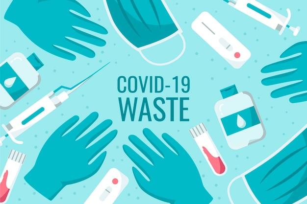 Hintergrund des coronavirus-pandemie-abfalls