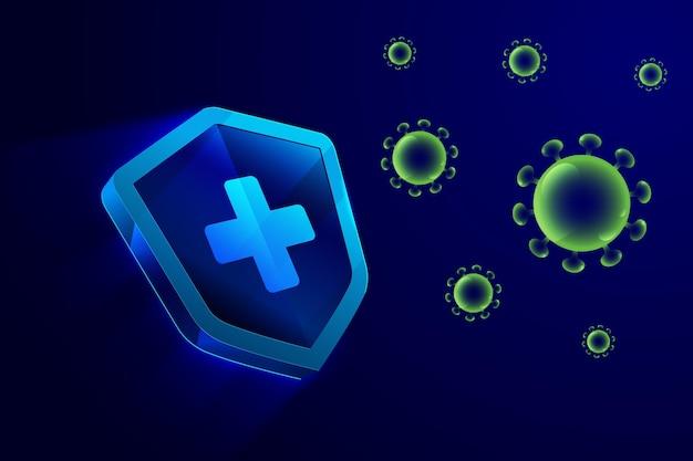 Hintergrund des coronavirus-schutzschilds