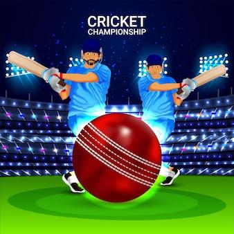 Hintergrund des cricket-meisterschaftsturniers