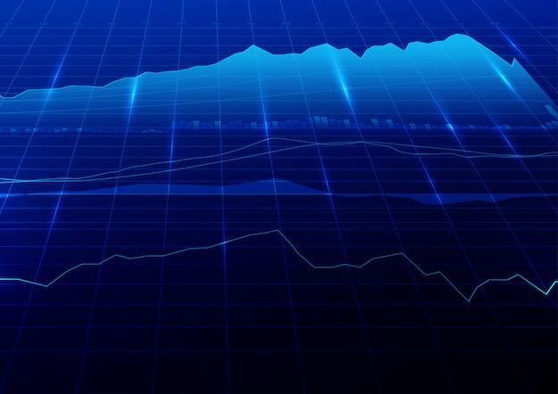 Hintergrund des digitalen börsenhandels.