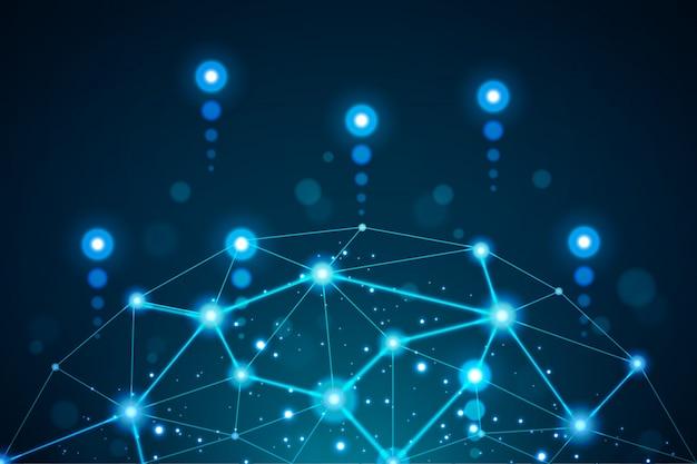 Hintergrund des digitalen technologiekonzepts