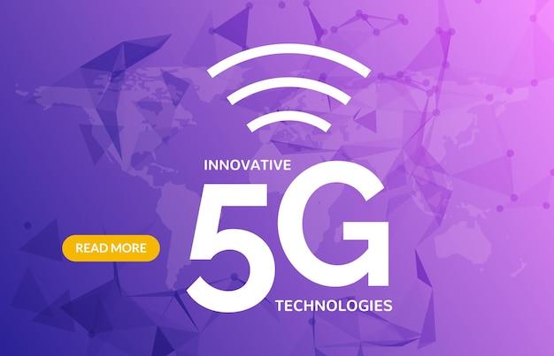 Hintergrund des drahtlosen 5g-internetverbindungsnetzwerks. hochgeschwindigkeits-5g-datenkommunikations-mobiltelefonkonzept.