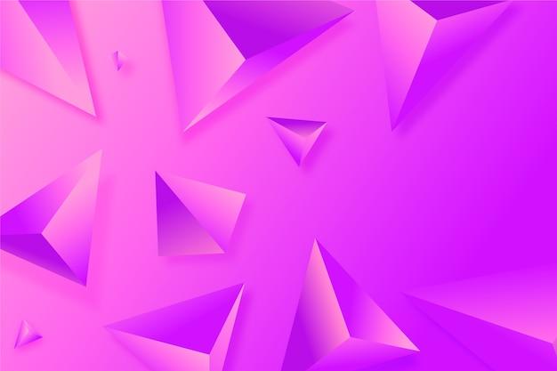 Hintergrund des dreiecks 3d in den klaren farben