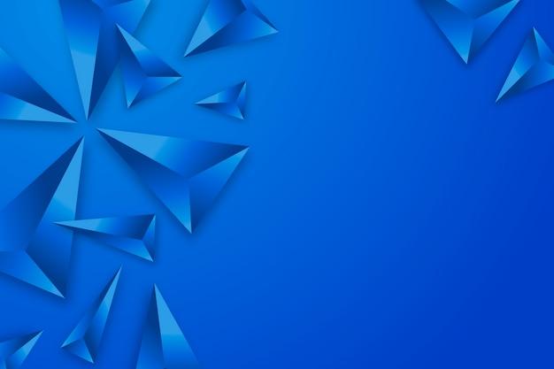 Hintergrund des dreiecks 3d mit klaren farben