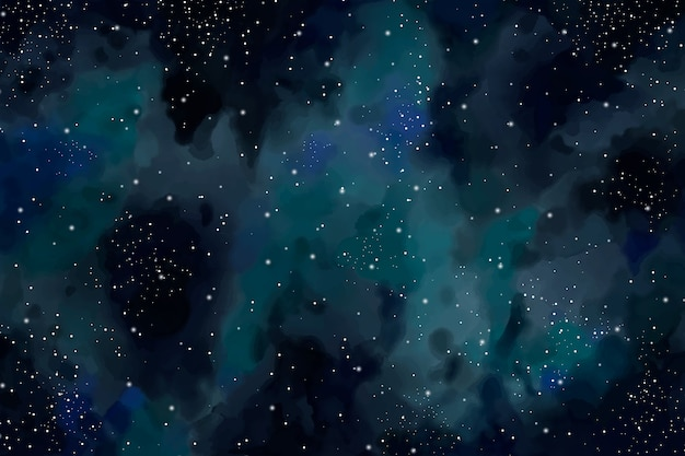 Hintergrund des dunklen himmels des aquarells