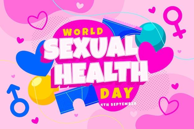 Hintergrund des flachen welttages der sexuellen gesundheit