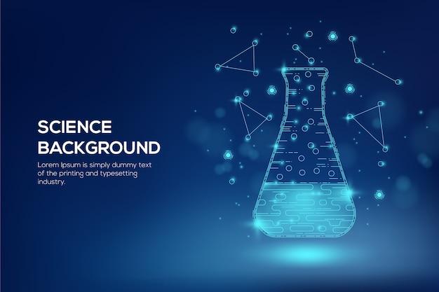 Hintergrund des futuristischen wissenschaftslabors
