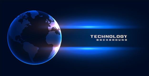 Hintergrund des globalen erdkonzepts der technologie
