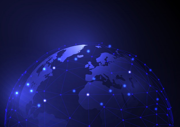 Hintergrund des globalen kommunikationsdesigns