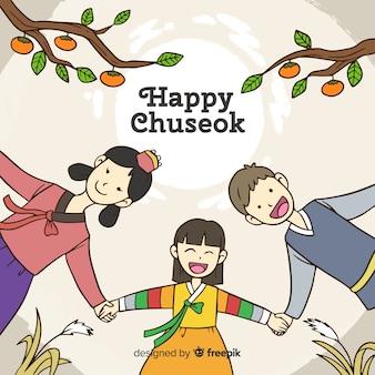 Hintergrund des glücklichen koreaners chuseok