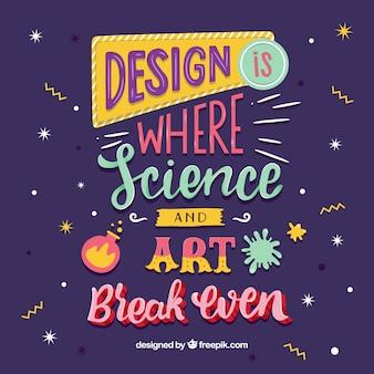 Hintergrund des grafikdesignzitats mit inspirierend mitteilung