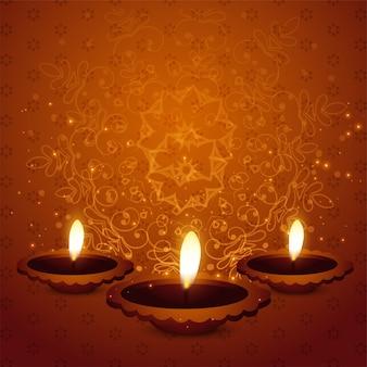 Hintergrund des hinduistischen diwali festivals schöner