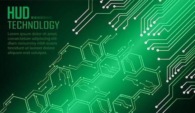 Hintergrund des konzepts der cyber-schaltung für die zukunftstechnologie