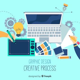 Hintergrund des kreativen prozesses des grafikdesigns