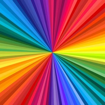 Hintergrund des lebendigen regenbogenfarbenen wirbels, der sich zur mitte dreht. illustration