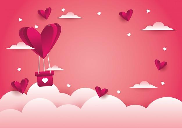 Hintergrund des liebes- und valentinstags