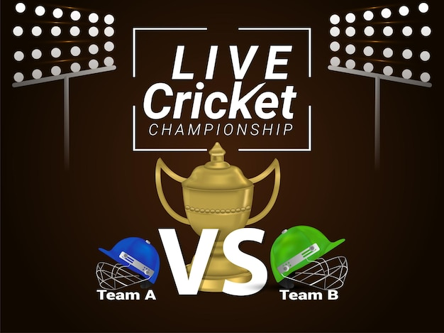 Hintergrund des live-cricket-meisterschaftsspiels