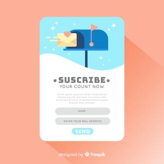 Hintergrund des mailbox-social influencers