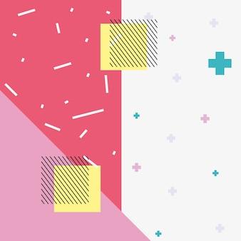 Hintergrund des memphis-artdesigns