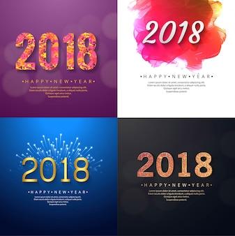 Hintergrund des modernen neuen jahres 2018 eingestellt