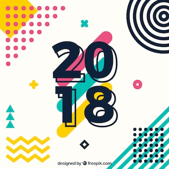Hintergrund des neuen Jahres 2018