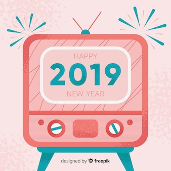 Hintergrund des neuen Jahres 2019 der Weinlese