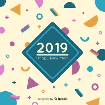 Hintergrund des neuen jahres 2019