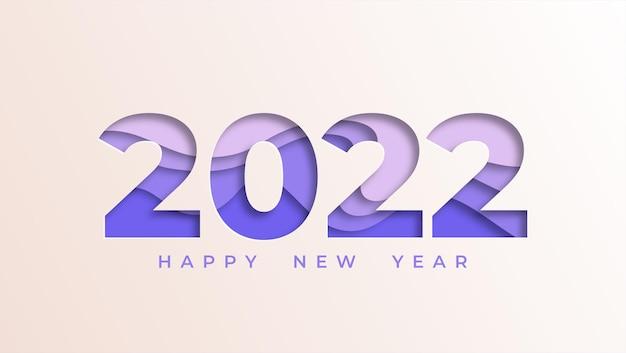 Hintergrund des neuen jahres 2021 im papierstil