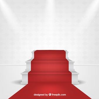 Hintergrund des roten teppichs in der realistischen art