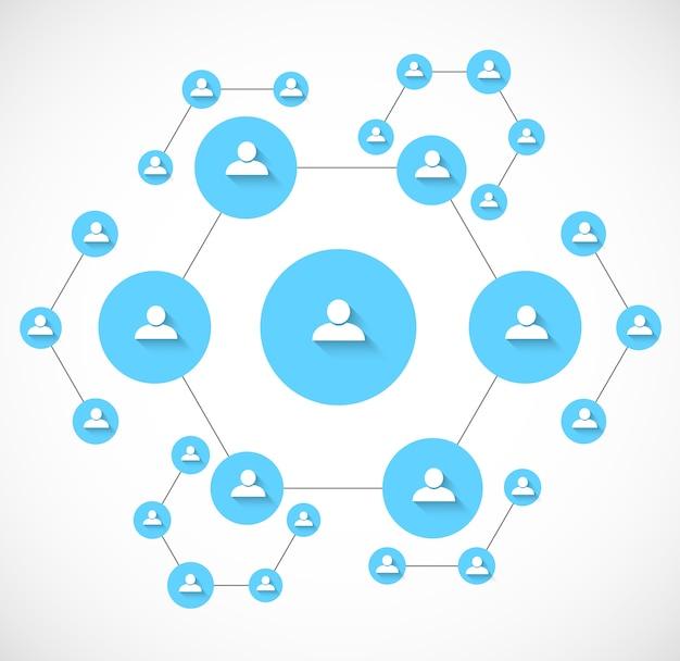 Hintergrund des sozialen netzwerks