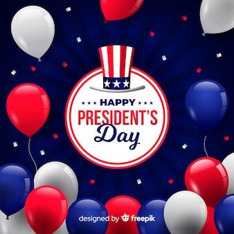 Hintergrund des tages des präsidenten