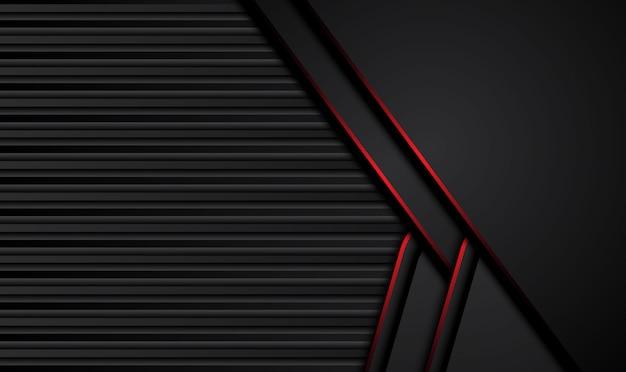 Hintergrund des technischen innovationskonzepts des abstrakten metallisch roten schwarzen entwurfs.