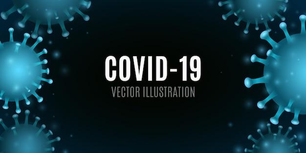 Hintergrund des virusorganismus. 3d-koronamikrobe. medizinisches konzept. illustration