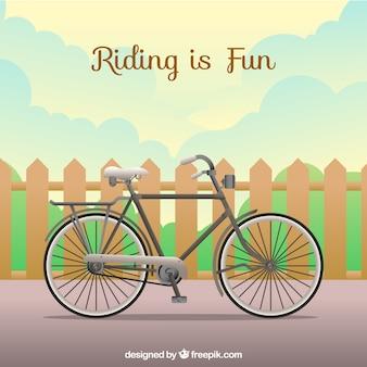 Hintergrund des zauns mit fahrrad