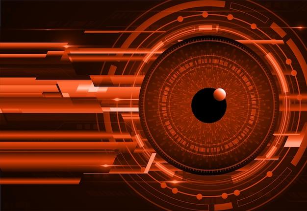 Hintergrund des zukünftigen technologiekonzepts der augen-cyber-schaltung
