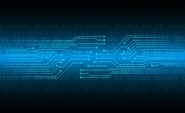 Hintergrund des zukünftigen technologiekonzepts der blauen cyberschaltung
