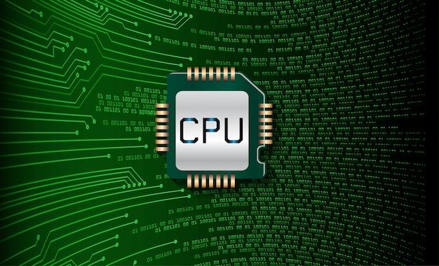 Hintergrund des zukünftigen technologiekonzepts der cpu-cyber-schaltung