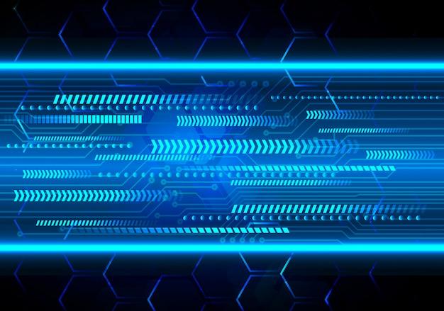 Hintergrund des zukünftigen technologiekonzepts der cyberschaltung des blauen pfeils