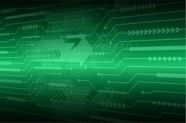 Hintergrund des zukünftigen technologiekonzepts der cyberschaltung des grünen pfeils