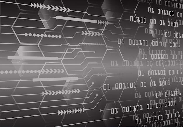 Hintergrund des zukünftigen technologiekonzepts der cyberschaltung des schwarzen pfeils