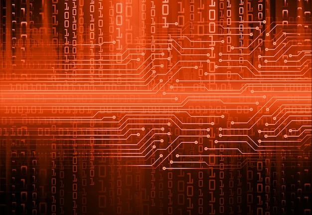 Hintergrund des zukünftigen technologiekonzepts der orange cyberschaltung