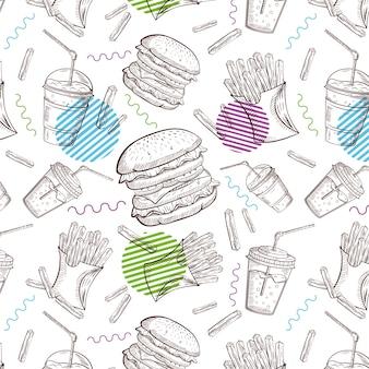 Hintergrund fast foods