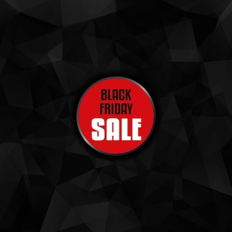 Hintergrund für black friday verkauf mit einem low-poly-design